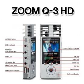 전문가용 ZOOM Q-3 HD, 캠 겸용 고음질 전문가용 녹음기, 연주녹음과 동영상 촬영을 고화질 고음질로 녹음가능